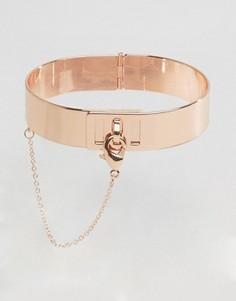 Золотисто-розовый браслет-манжета ALDO - Золотой