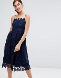 Кружевное платье Little White Lies Rhett - Темно-синий