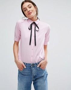 Розовая блузка с завязками Newlily - Розовый