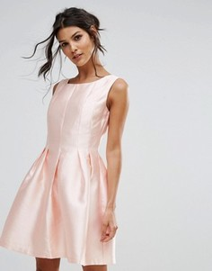 Короткое приталенное платье City Goddess - Оранжевый