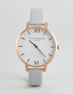 Часы с серым ремешком и большим циферблатом Olivia Burton Vegan - Белый