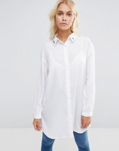 Рубашка с вышивкой Daisy Street - Белый