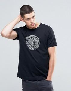 Черная футболка слим с логотипом Pretty Green - Черный