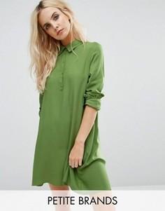 Асимметричное платье-рубашка Noisy May Petite Debby - Зеленый