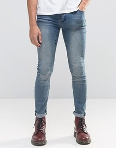 Синие рваные джинсы скинни Cheap Monday - Синий
