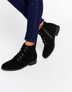 Черные ботинки на шнуровке Head Over Heels By Dune Paola - Черный