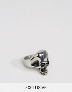 Кольцо с черепом Reclaimed Vintage - Серебряный
