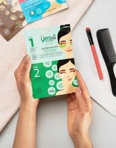 Набор с 2-этапным применением с маской для кожи вокруг глаз Yes To Cucumbers - Бесцветный