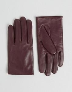 Кожаные перчатки ASOS - Красный