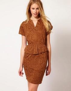 Ruby Rocks Leopard Pencil Dress - Коричневый