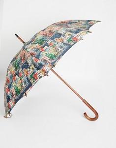 Зонт с принтом в виде домов Cath Kidston Kensington - Серый