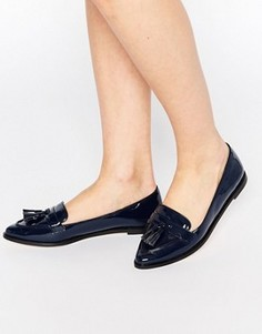 Лоферы с заостренным носком и кисточками Carvela Magnum - Темно-синий
