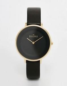Черные часы с кожаным ремешком Skagen SKW2286 - Черный