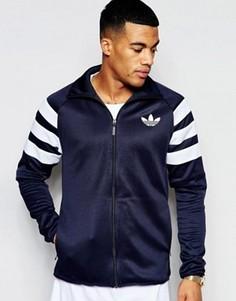 Спортивная куртка с полосками на рукавах adidas Originals AJ7676 - Синий