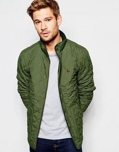 Стеганая куртка Jack Wills - Зеленый