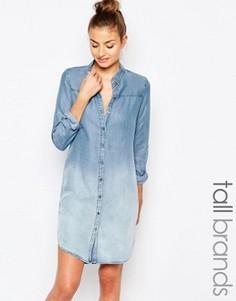Платье-рубашка с принтом тай-дай Vero Moda Tall - Синий