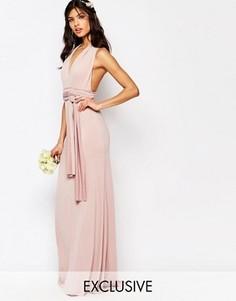 Платье-трансформер длины макси TFNC WEDDING - Розовый