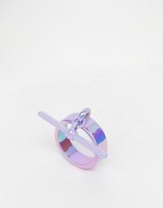 Кольцо с Т-образным дизайном Me & Zena - Фиолетовый