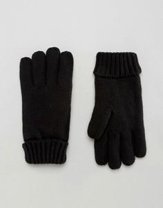 Черные перчатки с подкладкой из искусственного меха ASOS - Черный