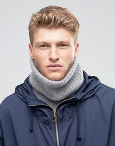 Серый вязаный шарф‑снуд из пушистой пряжи ASOS - Черный
