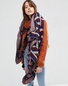Большой квадратный шарф с шевронным узором ASOS - Красный