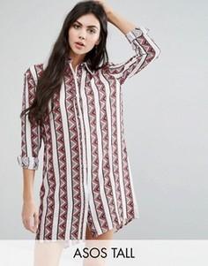 Oversize-pубашка с принтом Glamorous Tall - Мульти