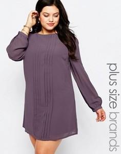Цельнокройное платье со складками Koko Plus - Фиолетовый