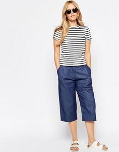 Укороченные джинсовые брюки Minimum Leia - Синий