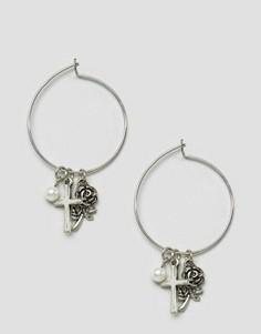 Cерьги‑кольца с подвесками ASOS - Мульти
