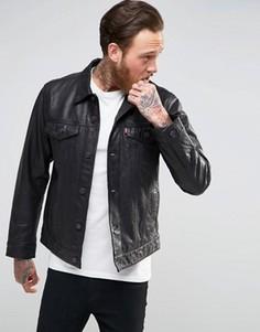Черная кожаная куртка Levis - Черный Levis®