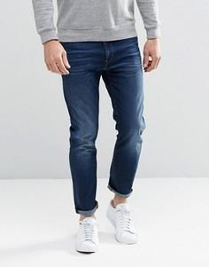 Темные потертые узкие джинсы G-Star Arc 3D - Синий