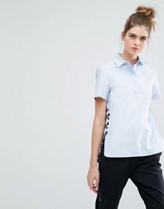 Рубашка со шнуровкой по бокам Sportmax Code Antonia - Синий