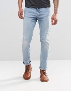 Светлые джинсы слим Nudie Thin Finn - Синий