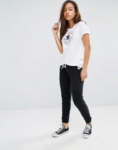 Черные спортивные брюки слим с логотипом Converse - Черный