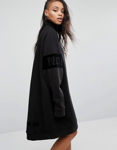 Трикотажное oversize-платье с высокой горловиной Fenty X Puma By Rihanna - Черный