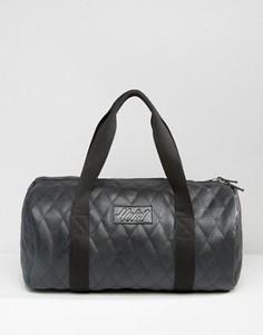 Стеганая сумка дафл из искусственной кожи Heist - Черный