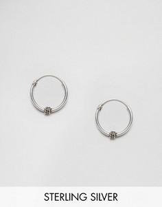 Серебряные серьги‑кольца 12 мм Kingsley Ryan - Серебряный