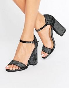 Сандалии на каблуке Glamorous - Черный