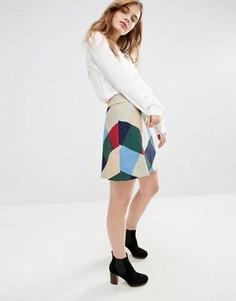 Короткая юбка-трапеция в клетку Traffic People - Мульти
