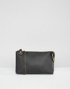 Простая сумка через плечо Pieces - Черный