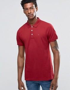 Красная футболка-поло слим Hilfiger Denim - Красный