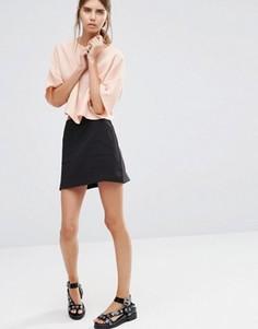 Мини-юбка с карманами спереди Vila - Черный