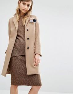 Классическое пальто Gloverall Chesterfield - Бежевый