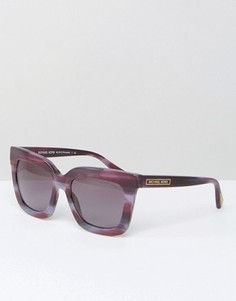 Солнцезащитные очки в квадратной оправе Michael Kors - Фиолетовый