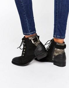 Ботинки на шнуровке с пряжками ALDO - Черный