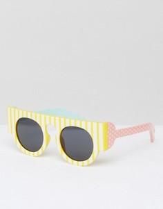 Солнцезащитные очки в полоску Le Specs - Желтый
