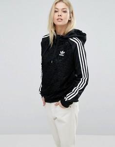 Худи из искусственного меха adidas Originals - Черный
