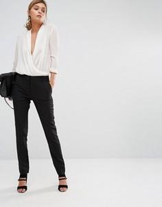 Узкие брюки стретч New Look - Черный