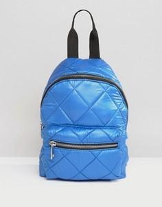 Стеганый мини-рюкзак ASOS - Синий