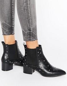 Полусапожки на каблуке с заклепками Missguided - Черный